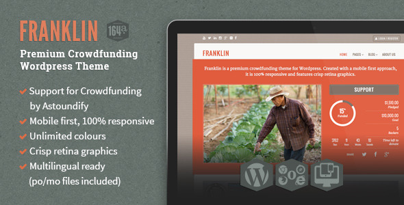franklin-crowdfunding-wordpress-theme
